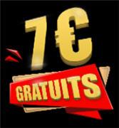7 euros gratuit sur le casino en ligne Gratowin